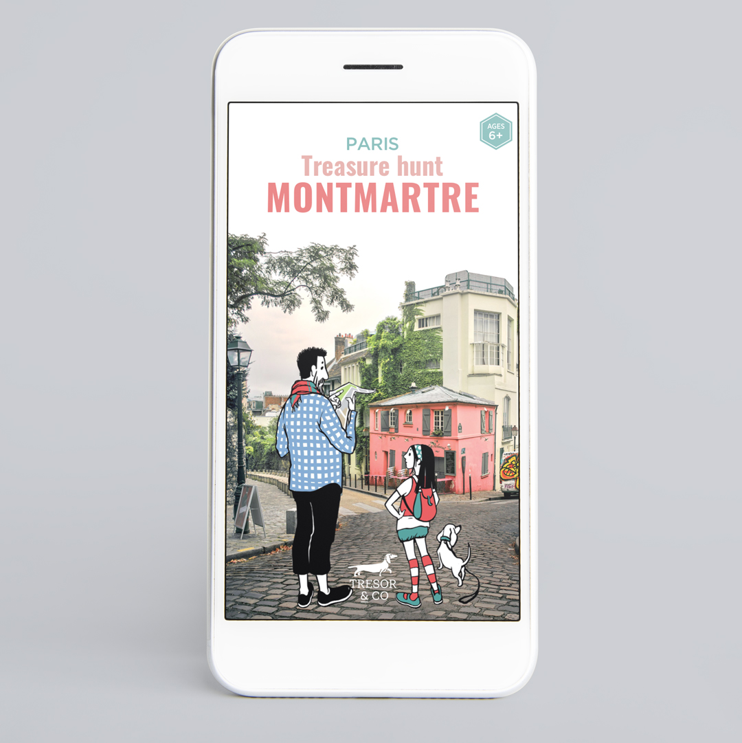 Treasure hunt in Montmartre Paris, smartphone version