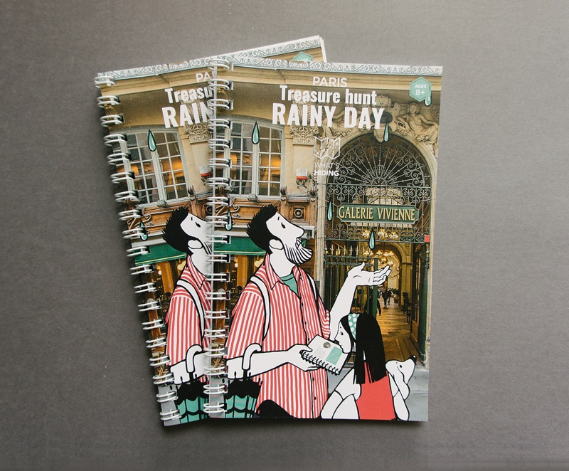 Rainy day treasure hunt paris - booklets