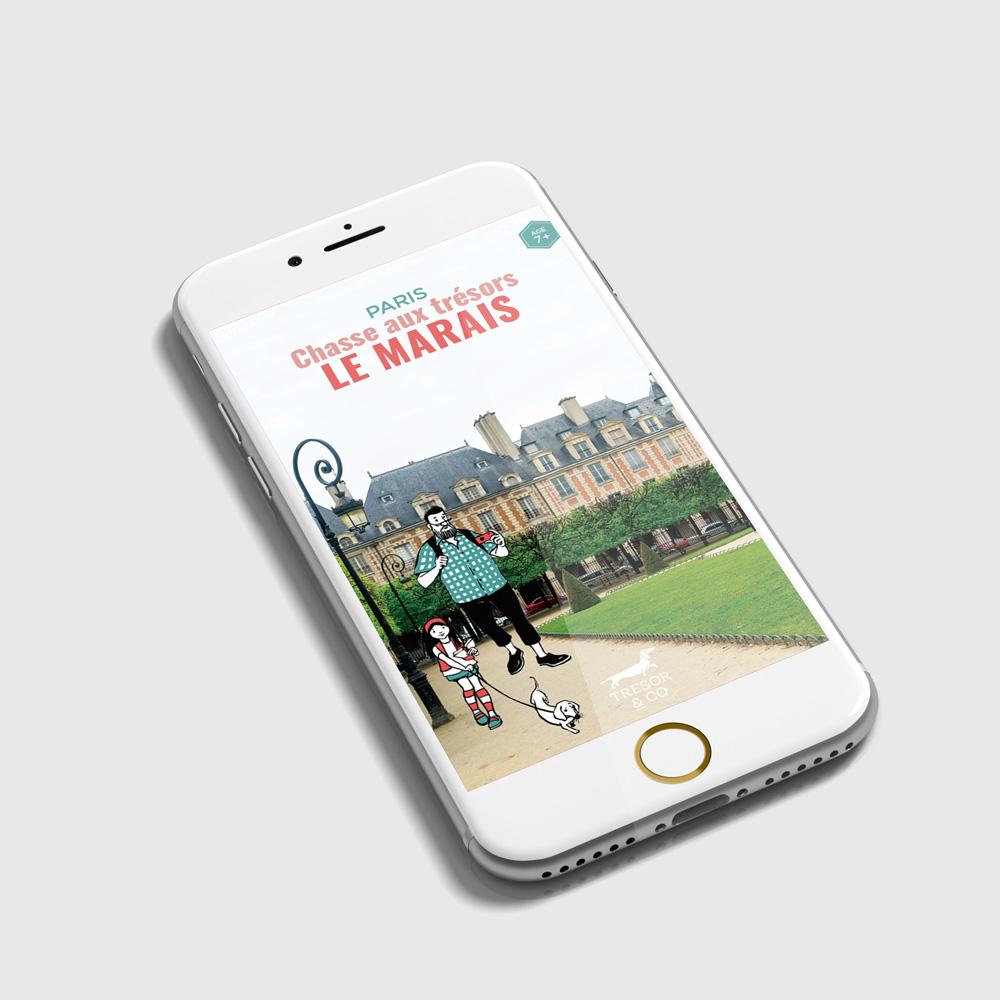 Chasse aux trésors dans le Marais - version pour smartphone