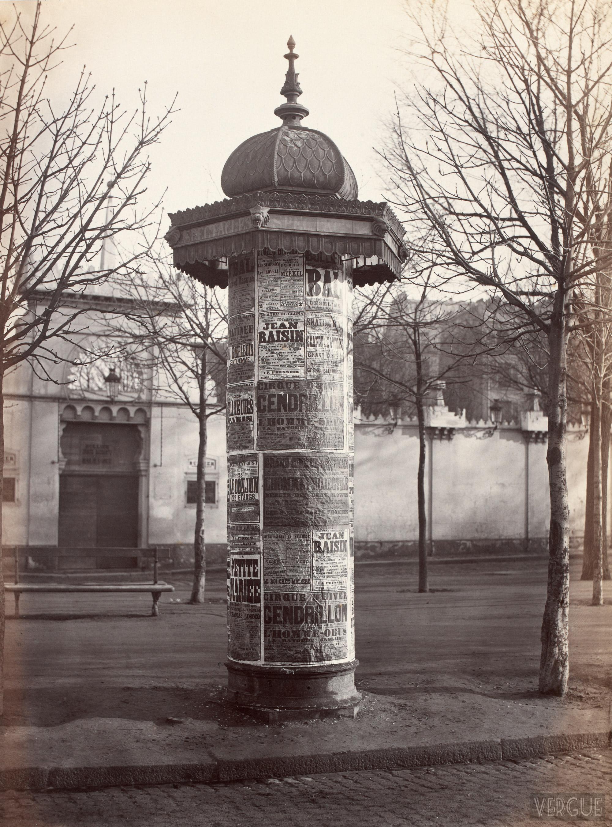 Colonne Morris en 1874
