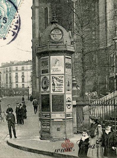 Colonne Morris 1906 détail