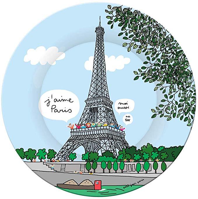 Assiette bébé tour Eiffel
