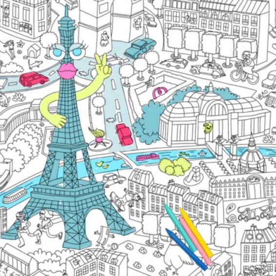 Set de table à colorier, Paris